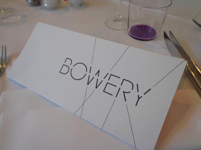 Bowery menu