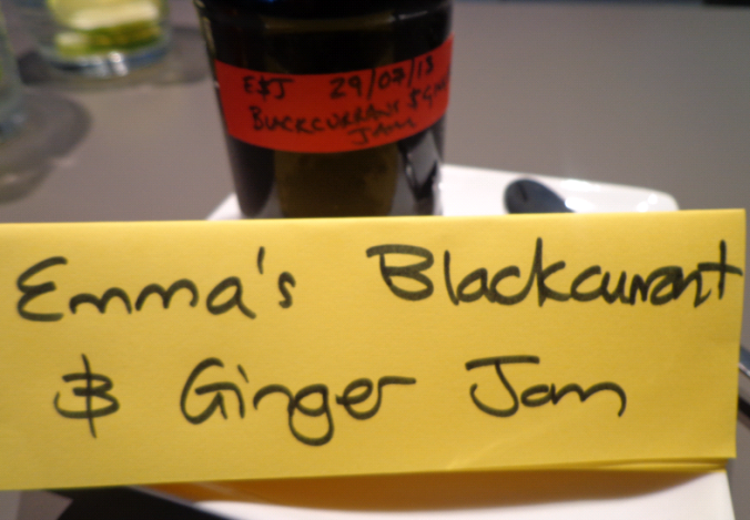 emmas blackcurrant and ginger jam