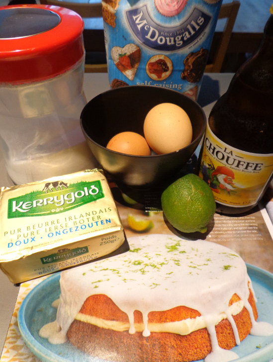lime and beer cake ingredients