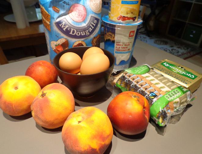 peach upside down cake ingredients