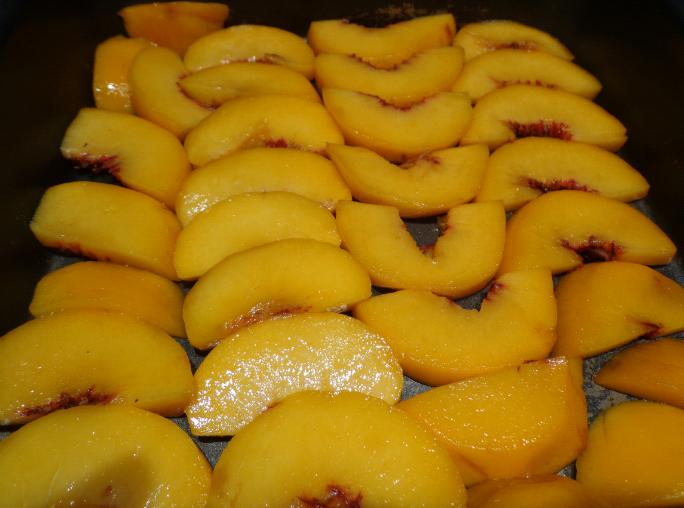 peach upside down cake peaches