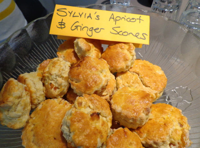 sylvias apricot and ginger scones