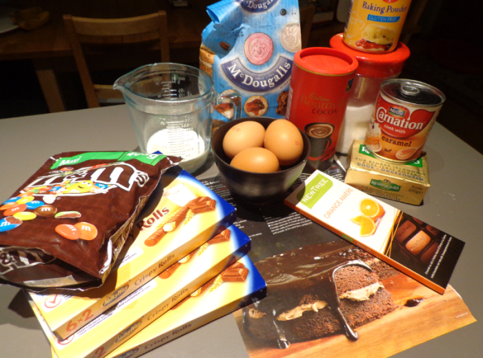 birthday cake ingredients