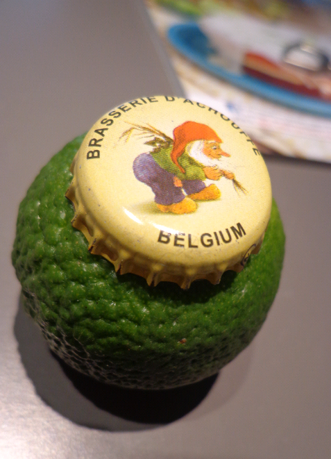 lime and beer cap