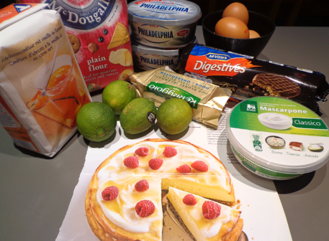 lime baked cheesecake ingredients