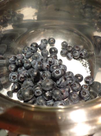 blueberry swirl cheesecake berries