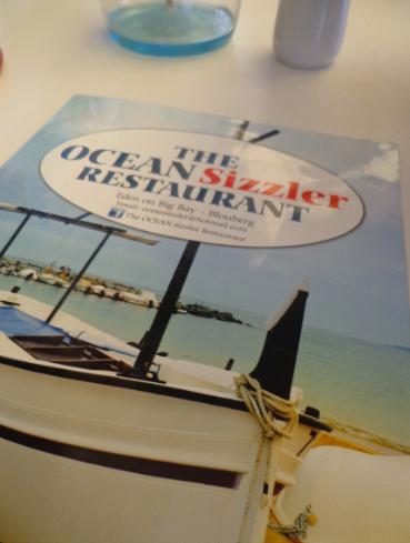 Ocean Sizzler menu