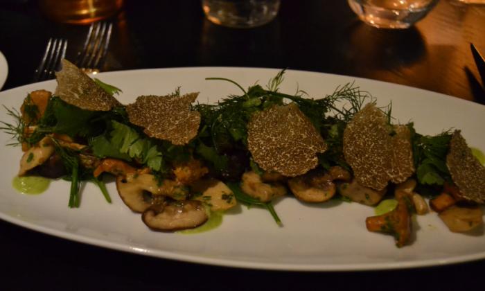 The Restaurant mushroom starter
