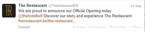 the restaurant opening