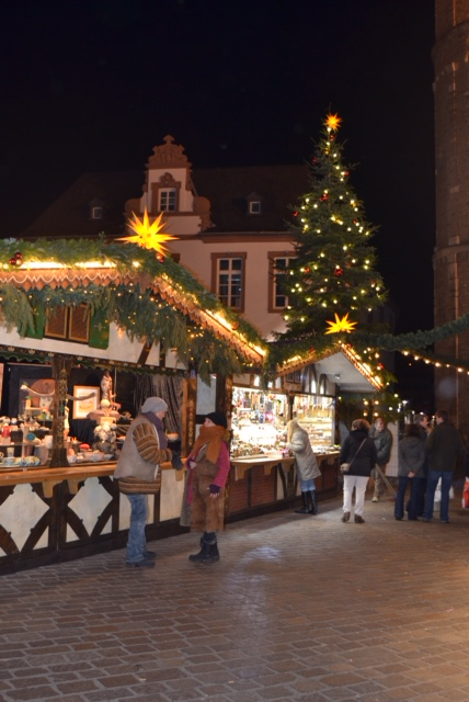 Christmas markets by night