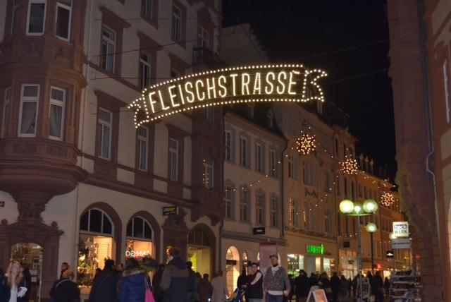 street signs at night