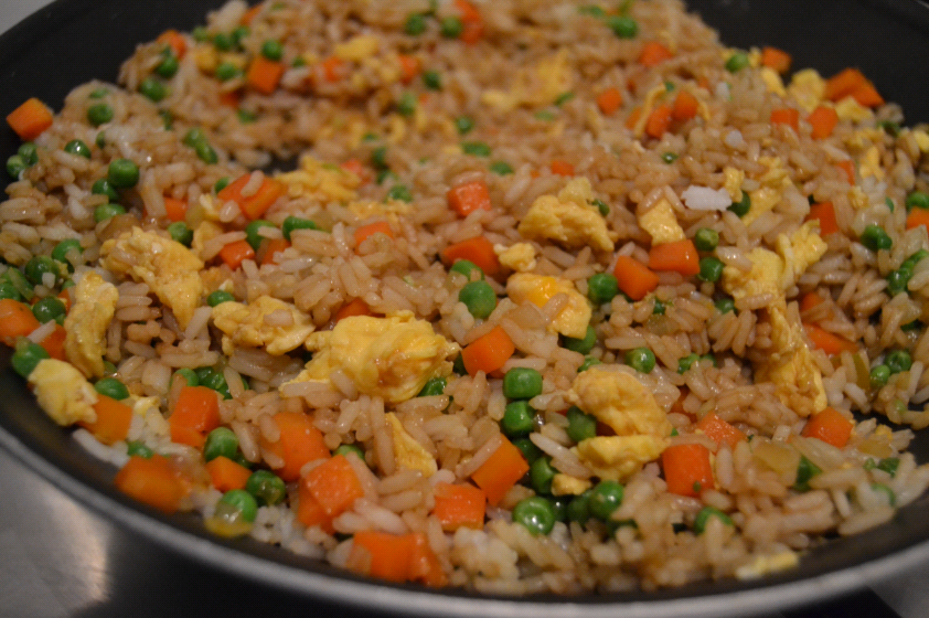 Easy Egg Fried Rice | whyiamnotskinny