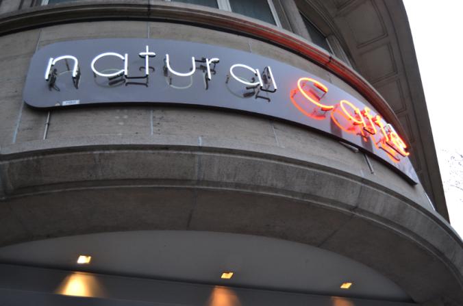 natural cafe signage