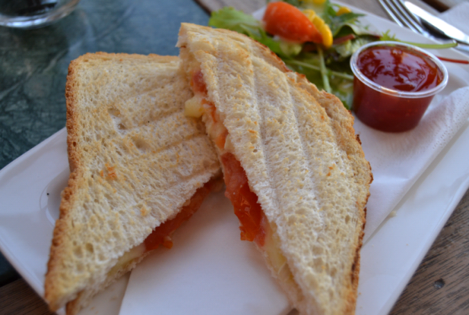 soif brie and tomato toastie