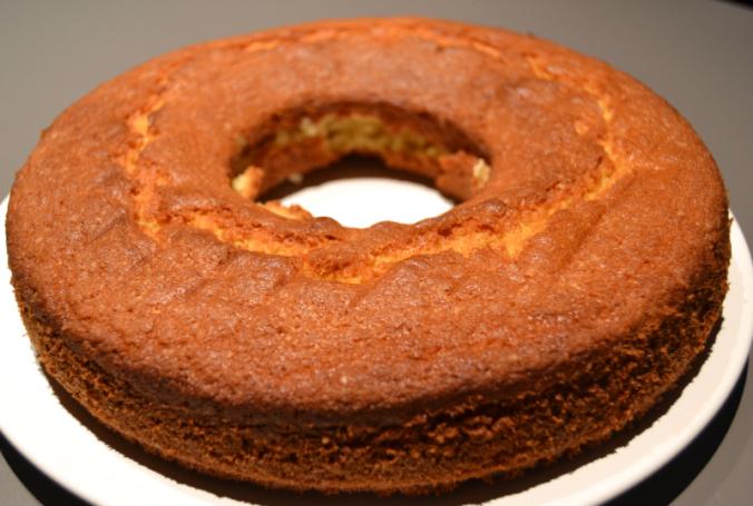 cherry madeira cake cooling