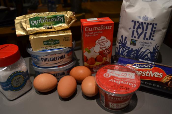Salted caramel cheesecake ingredients