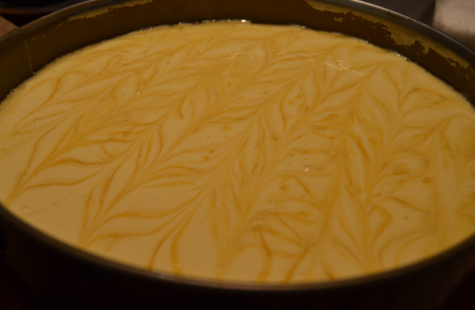 salted caramel cheesecake pre oven 2