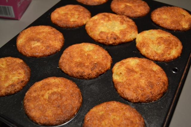 banana muffins post oven
