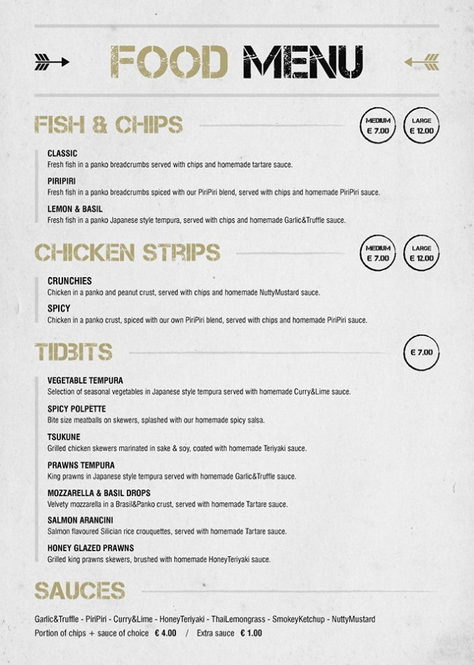 black sheep food menu