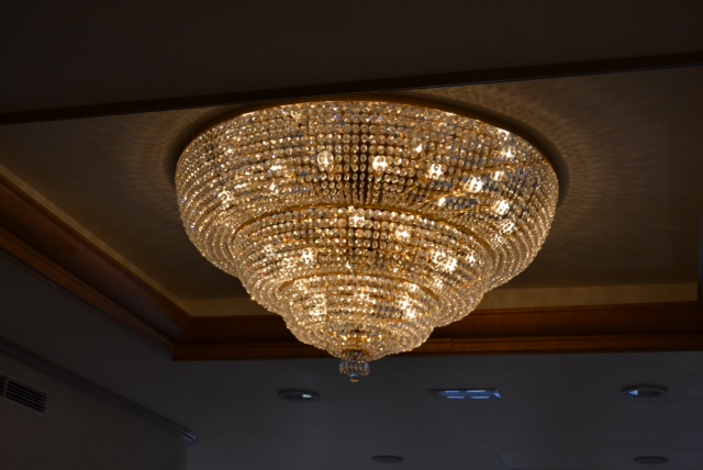if a hotel has chandeliers... then you know!