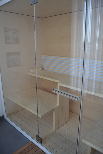 they even have a dinky sauna just off their fitness room that can be booked