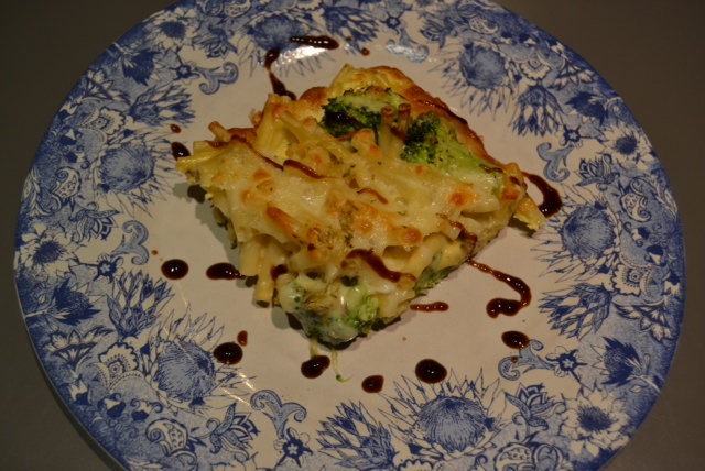 frittata with broccoli rabe bacon and three cheeses spaghetti frittata ...
