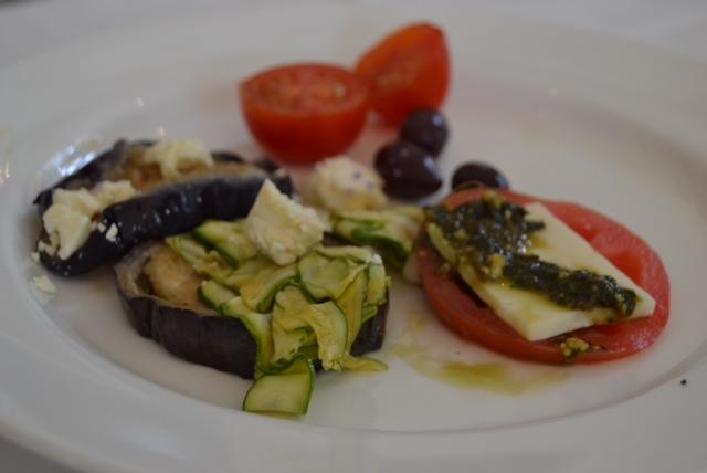 my starter plate (the aubergine was Mmmm)