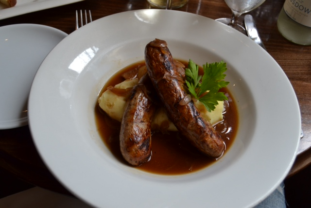 the crusting pie sausages and mash