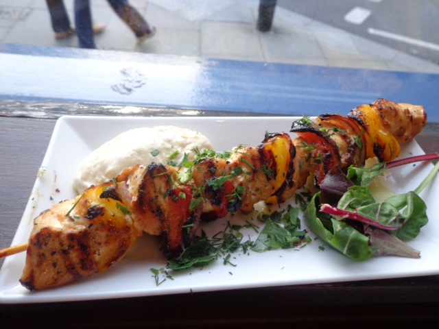 the real greek chicken kebab