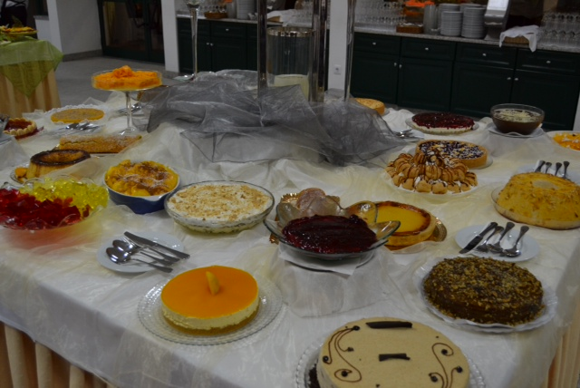 Portuguese celebration dessert buffet