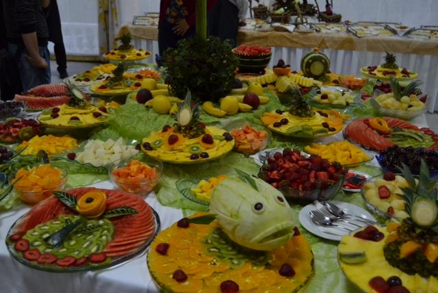 Portuguese celebration fruit buffet