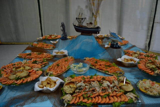 Portuguese celebration prawn buffet