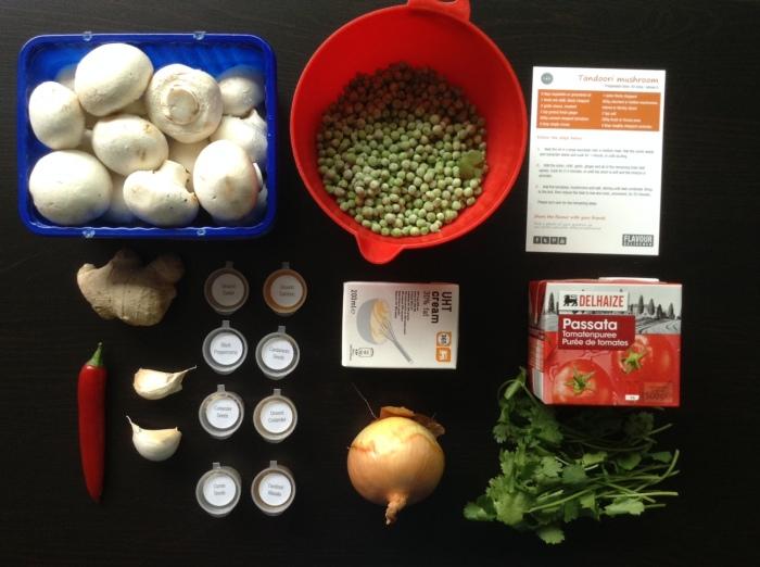 Tandoori mushroom ingredients