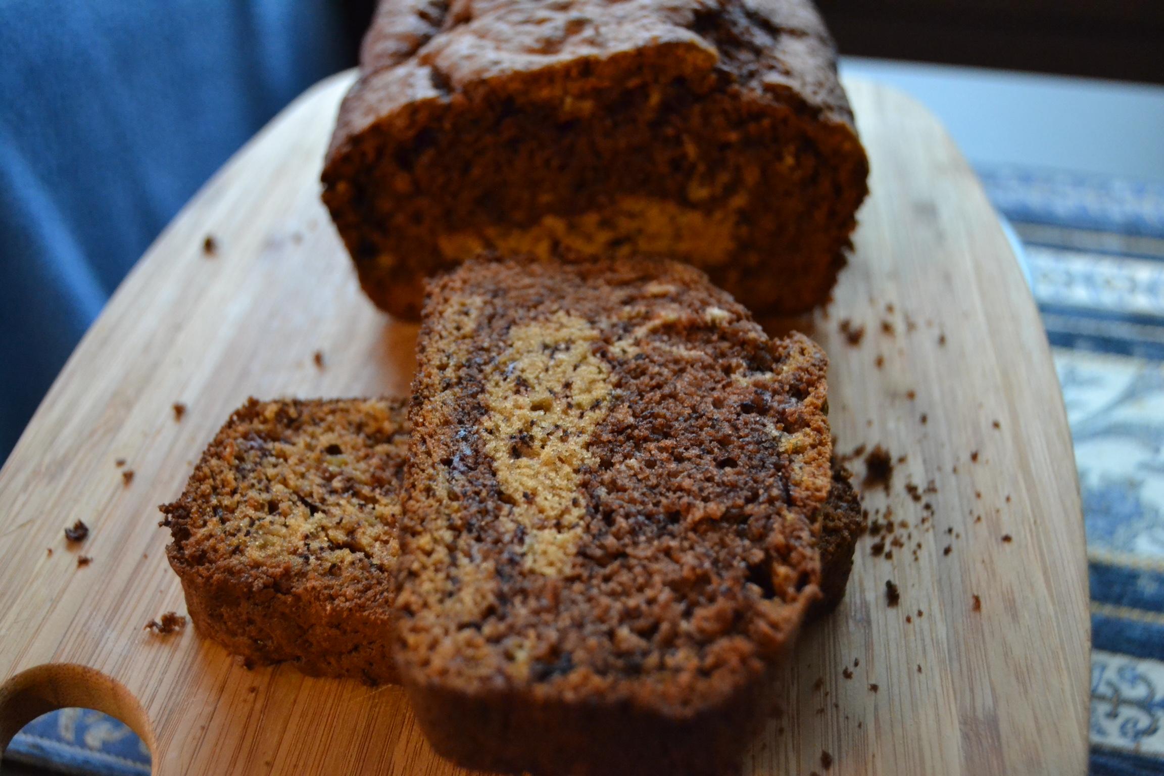 Nutella swirled banana bread (SRC) | whyiamnotskinny