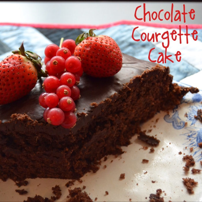 chocolate courgette cake 1