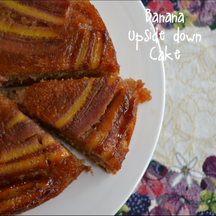 banana upside down cake 1