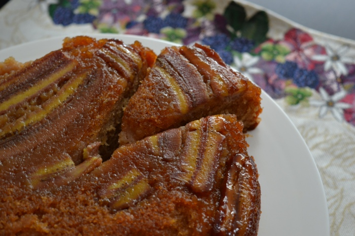 banana upside down cake 3