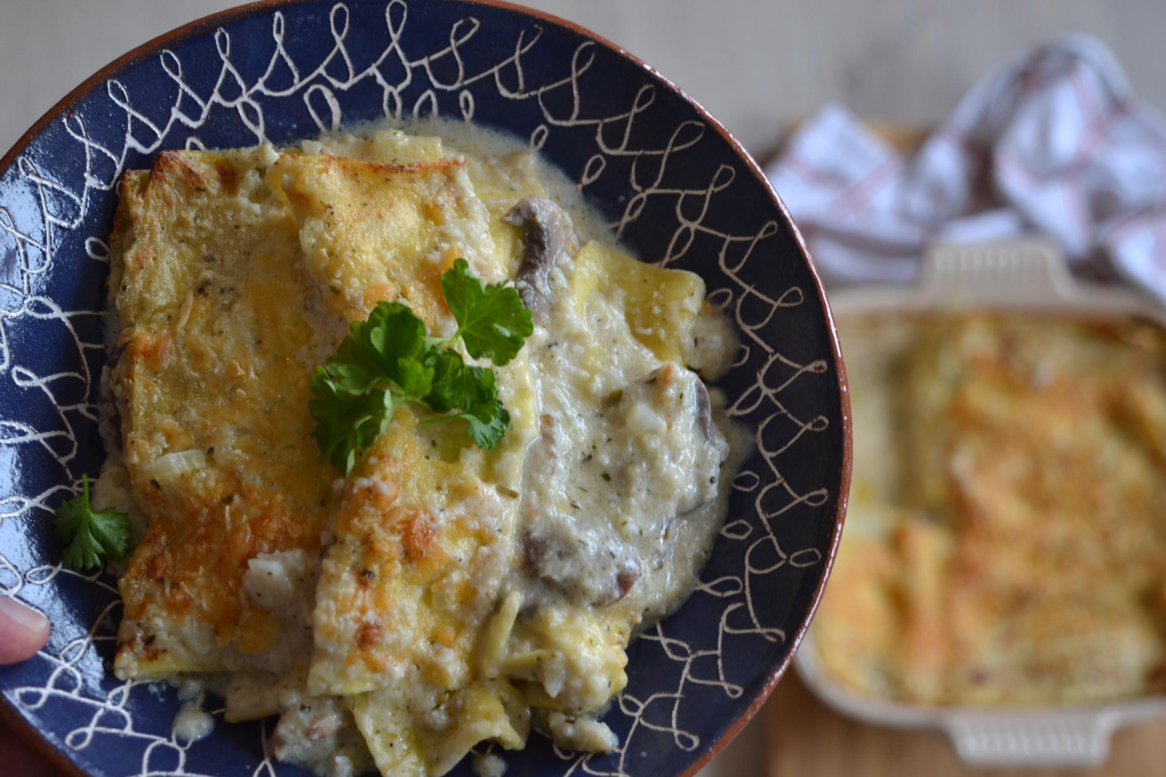 White Mushroom Lasagna | whyiamnotskinny